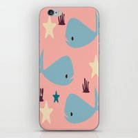 the whale iPhone & iPod Skins featuring Whale by BruxaMagica_susycosta