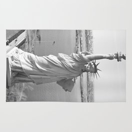 Statue of Liberty Black and White Photograph Rug