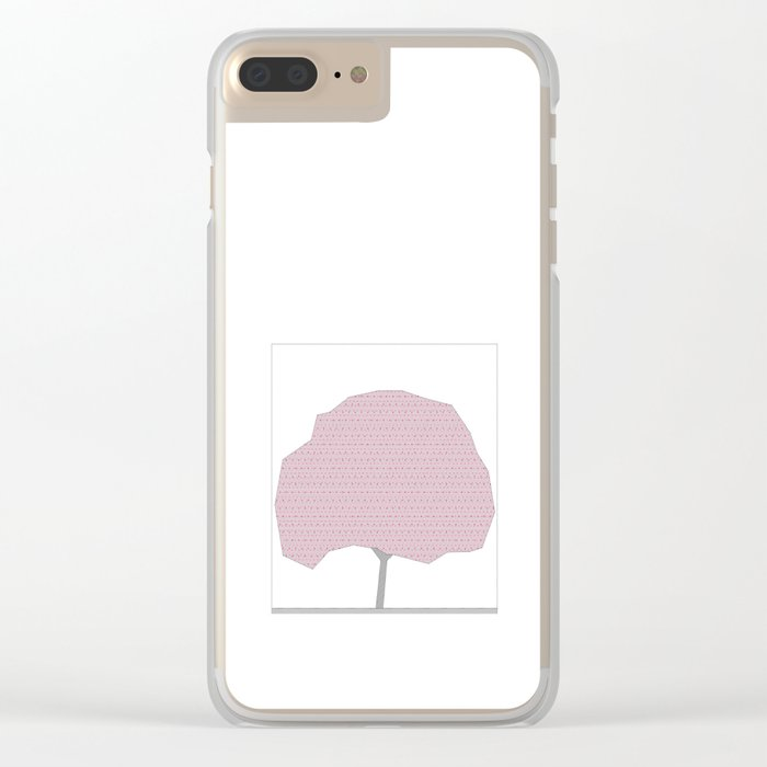 CHERRY TREE Clear iPhone Case