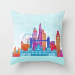 London Dreams  Throw Pillow