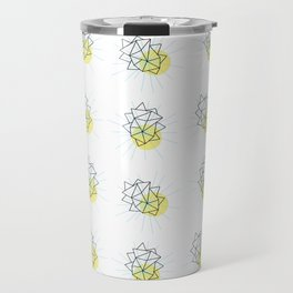 Rock and Sun Asbtract Mid Century Minimalist Style Pattern Travel Mug