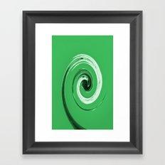 Nelsons Twirl Green Framed Art Print