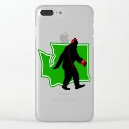 Bigfoot walk in Washington Clear iPhone Case