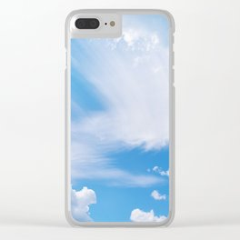 Beautiful blue skies Clear iPhone Case