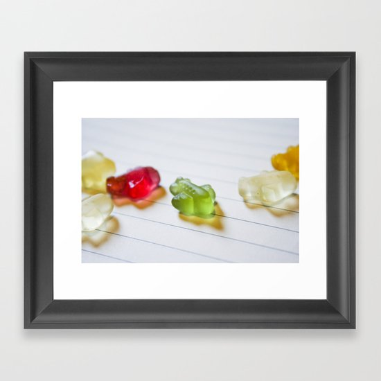 Airplane jelly candies Framed Art Print