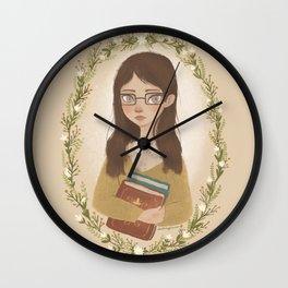 Literary Girl Wall Clock