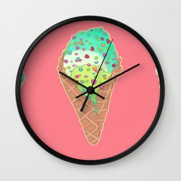 Neon Cones Wall Clock