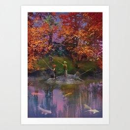 The Pond on the Eighteenth Art Print