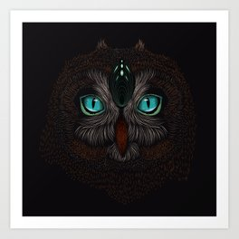 Owl Totem Art Print