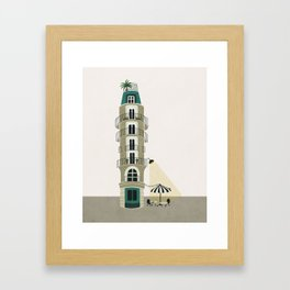 Paris house Framed Art Print