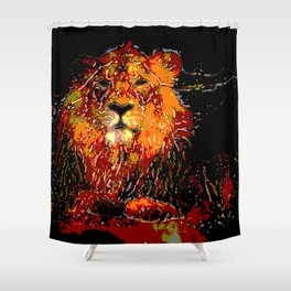 Abstract Animal - LION Shower Curtain