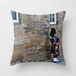 Bagpipes & Kilts Throw Pillow