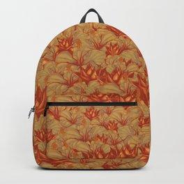 Just Orange Flowers Backpack