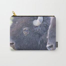 Watercolor Bison Bull 48, Yellowstone, WY Carry-All Pouch