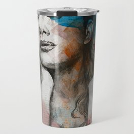 Pillars   nude busty woman realistic portrait Travel Mug
