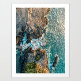 The Gap lagoon Art Print