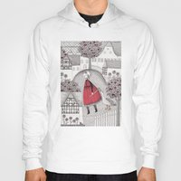 jazzberry Hoodies featuring The Old Village by Judith Clay