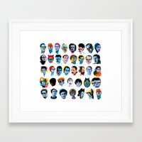 talking heads Framed Art Prints featuring Heads by Alvaro Tapia Hidalgo