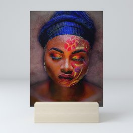 African American Portrait - The Color God Sees When He Closes His Eyes to Dream Mini Art Print