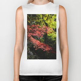autumn in the light Biker Tank