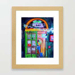 Door at Fatty Arbuckle's Framed Art Print