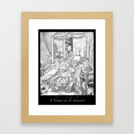 Fireplace Man Framed Art Print
