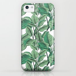 Exotic Tropical Banana Palm Leaf Print iPhone Case