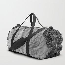 Black & white maple leaf Duffle Bag