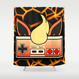 Fire Game Shower Curtain