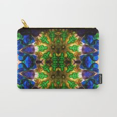 Kaleido: Blue, Green, Yellow Carry-All Pouch