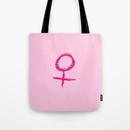 symbol of woman chalk version 13 Tote Bag