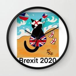 Brexit cat leaving European Union  Wall Clock