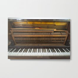 Inside The Old Piano 1 Metal Print
