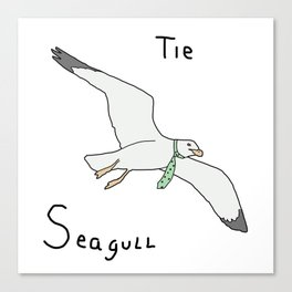 Tie Seagull Canvas Print