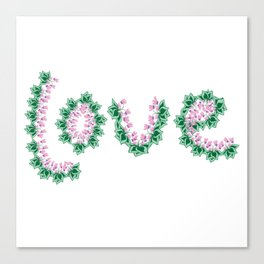 Cyclamen love Canvas Print