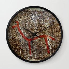 Pictogram at Vitlycke, Sweden 5 Wall Clock