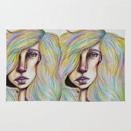 CRAYON LOVE:Woman in the Rainbow Hair Rug