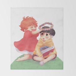 Ponyo loves Sosuke Throw Blanket