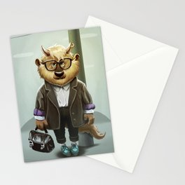 Hipster Monter Girl Stationery Cards
