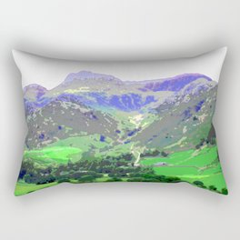Photo art print of Great Langdale valley - a view to Stickle Tarn Rectangular Pillow