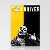 taxi driver Stationery Cards featuring Travis Bickle Taxi Driver by Maxim Garg