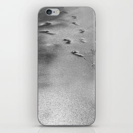 Steps on the wet sands, beach, nautical, holiday iPhone Skin