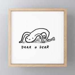 Honest Blob - Dear O Dear Framed Mini Art Print