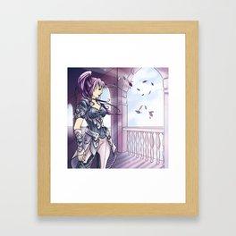 Guerière violette Framed Art Print