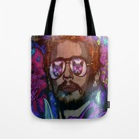 james franco Tote Bags featuring JAMES FRANCO IS MY LOVER by AZZURRA DESIGNS