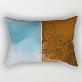 Abstract image of a texture rich salt farm from above - Aerial Landscape Photography Rectangular Pillow