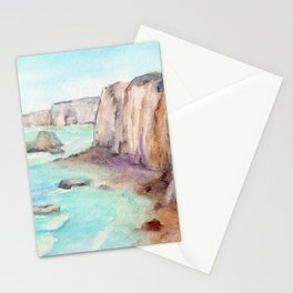 Cliffs at Normandie WC160404c-11 Stationery Cards