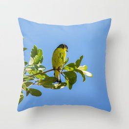 Yellow Bird - II Throw Pillow