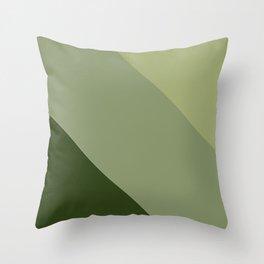 Pine Moss Sage Diagonal  Throw Pillow