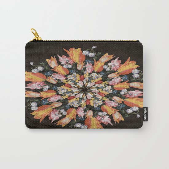 Flemish Floral Mandala 2 Carry-All Pouch